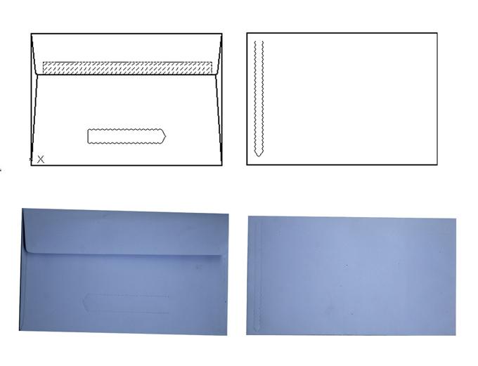 ZPT-266 Keo dán và dán với dòng Tear mẫu máy Envelope